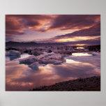 Islandia, laguna de Jokulsarlon, paisaje Impresiones