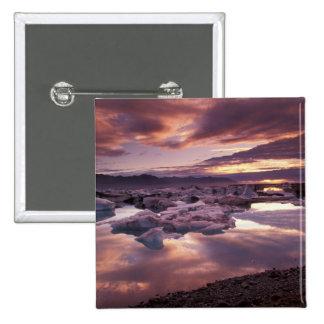 Islandia, laguna de Jokulsarlon, paisaje Pin Cuadrado