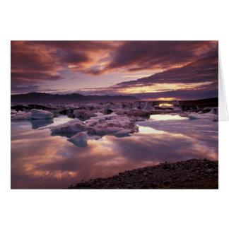 Islandia, laguna de Jokulsarlon, paisaje Tarjeta De Felicitación
