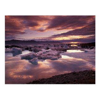 Islandia, laguna de Jokulsarlon, paisaje Tarjetas Postales