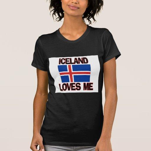 Islandia me ama camiseta