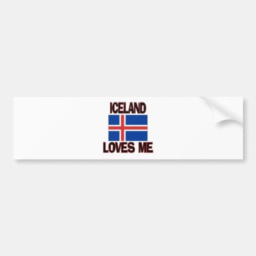 Islandia me ama pegatina de parachoque