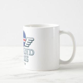 Islandia oscila v2 taza básica blanca