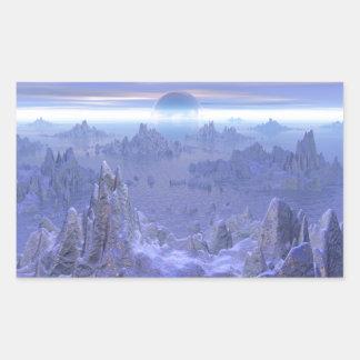 Islandia para siempre pegatina rectangular