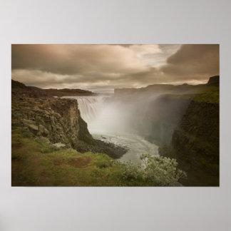 Islandia, parque nacional de Jokulsargljufur Póster