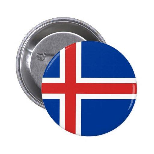 Islandia Pin Redondo De 2 Pulgadas