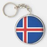 Islandia redonda llavero personalizado