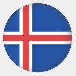 Islandia redonda pegatina redonda