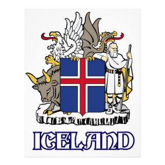 ISLANDIA - sello/emblema/blasón/escudo de armas/sí Membrete