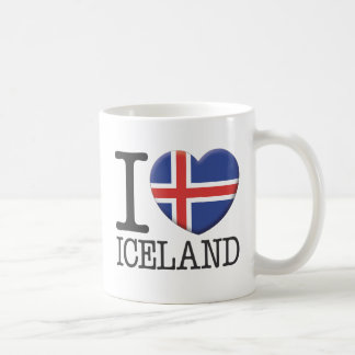 Islandia Taza Básica Blanca