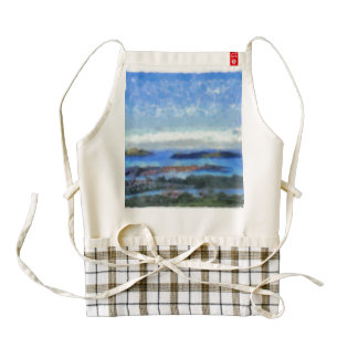 Islands and scenery zazzle HEART apron
