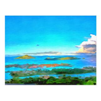 Islands and sea postcard