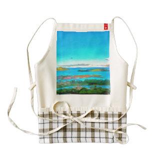 Islands and sea zazzle HEART apron