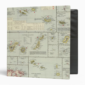 Islands, Atlantic Ocean 3 Ring Binder