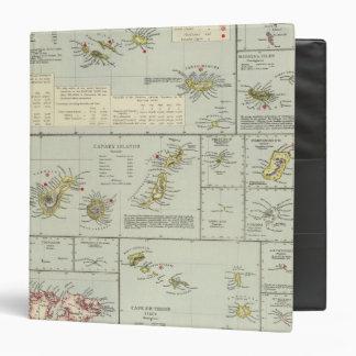 Islands, Atlantic Ocean Vinyl Binder