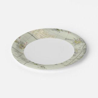 Islands, Atlantic Ocean Paper Plate