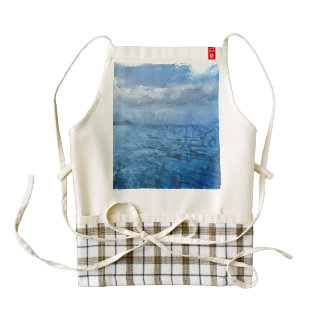 Islands in the distance zazzle HEART apron