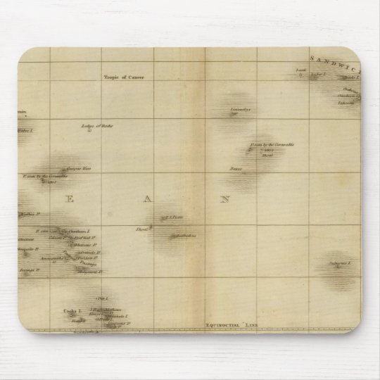 Islands in the Pacific Ocean Mouse Pad