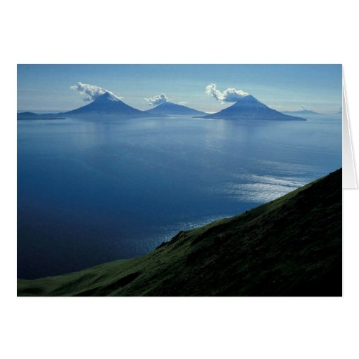 Islands of Four Mountains Greeting Card