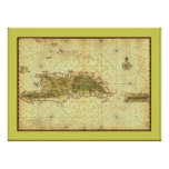 Islands of Hispaniola and Puerto Rico ~ 1639 Posters