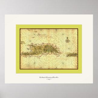 Islands of Hispaniola and Puerto Rico ~ 1639 Poster