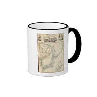 Islands of Japan Ringer Coffee Mug