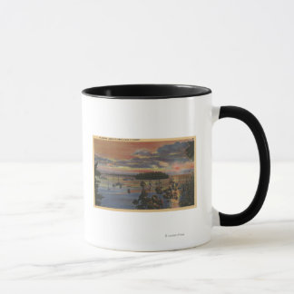 Islands of Lower Columbia River at Sunsetand Mug