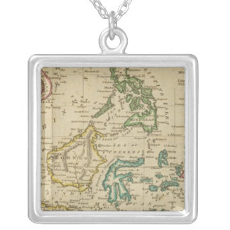 Islands of the East Indies Square Pendant Necklace