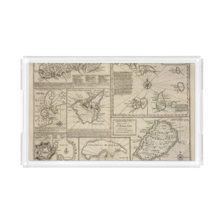 Islas africanas bandeja rectangular