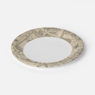 Islas africanas plato de papel de 7 pulgadas