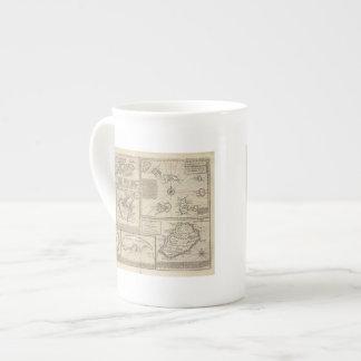 Islas africanas taza de porcelana