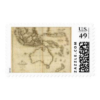 Islas asiáticas timbres postales