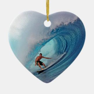 Islas azules grandes de Mentawai de la onda que Adorno De Cerámica En Forma De Corazón
