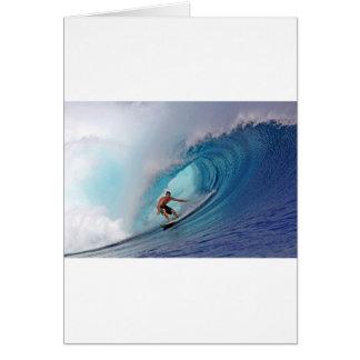 Islas azules grandes de Mentawai de la onda que pr Tarjeta De Felicitación