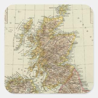 Islas británicas 10 pegatina cuadrada