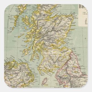 Islas británicas 11 pegatina cuadrada