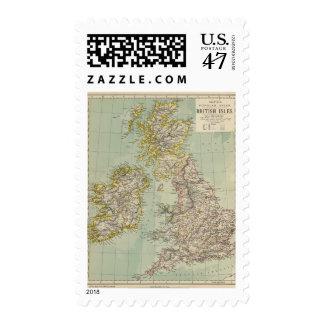 Islas británicas 11 timbres postales
