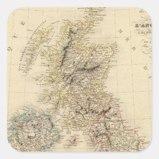 Islas británicas 2 pegatina cuadrada