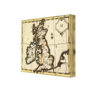 Islas británicas 3 impresión en lona estirada