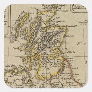 Islas británicas 3 pegatina cuadrada