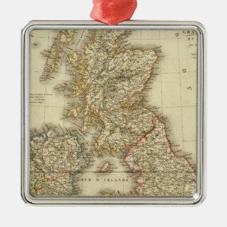 Islas británicas 4 ornamento para arbol de navidad