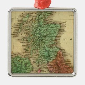 Islas británicas 4 ornamentos de navidad
