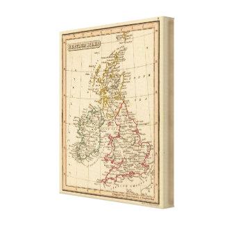 Islas británicas 4 impresión en lona estirada