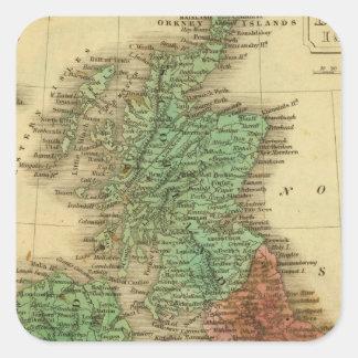Islas británicas 4 pegatinas cuadradas personalizadas