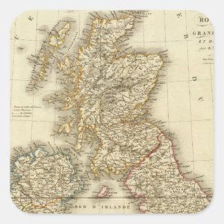 Islas británicas 4 calcomania cuadrada personalizada