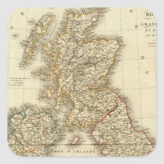 Islas británicas 4 pegatina cuadrada