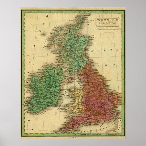 Islas británicas 4 póster