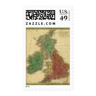 Islas británicas 4 sellos