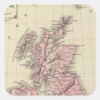 Islas británicas 5 pegatina cuadrada