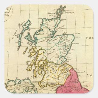 Islas británicas 6 pegatina cuadrada
